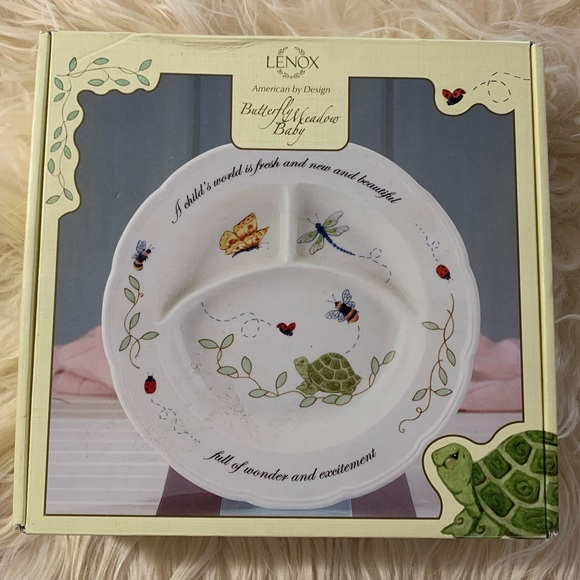 LENOX | Butterfly Meadow Baby Divided Dish Plate